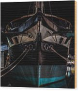 Ship Of Yesteryear Wood Print