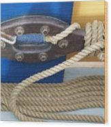 Ship Rope Wood Print