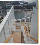 Shipboard Stairways Wood Print