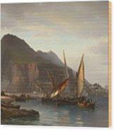 Shipping Off Gibraltar Wood Print