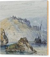 Shipping Off The Coast Of Granville Wood Print