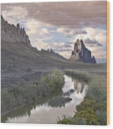 Ship Rock New Mexico Wood Print