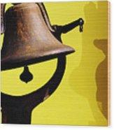 Ship's Bell Wood Print by Rebecca Sherman