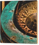 Ship's Compass Wood Print