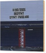 Ship's Water-level Benchmark  Wood Print