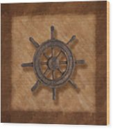 Ship's Wheel Wood Print