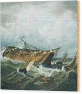 Shipwreck Off Nantucket Wood Print