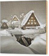 Shirakawa Wood Print