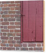 Shirley Mansion Outbuilding Wall Wood Print