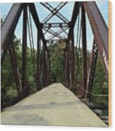 Shirley Railroad Bridge 1 Wood Print