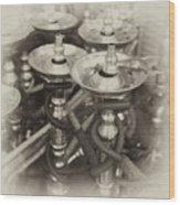 Shisha Pipes In Qatar Retro Wood Print by Paul Cowan