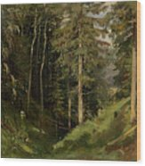 Shishkin, Ivan 1832-1898 Forest Clearing Wood Print