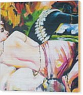Shiva And Shakti  Wood Print