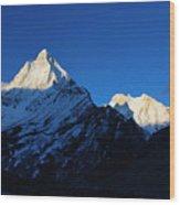 Shivling And Meru, Uttarakhand, India Wood Print