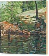 Shoal Lake - Granite Shore Wood Print