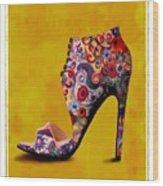 Shoe Illustration 1 Wood Print