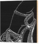 Shoe In Wood Print