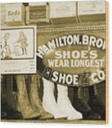 Shoe Shopping In The 30's Wood Print