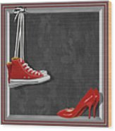 Shoes For Every Occasion Wood Print