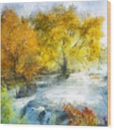 Shohola Falls Autumn Wood Print