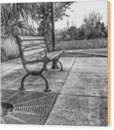 Shoney's Bench Wood Print