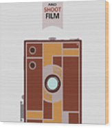 Shoot Film Wood Print