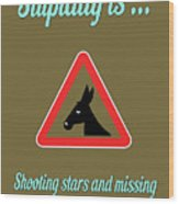 Shooting Bigstock Donkey 171252860 Wood Print