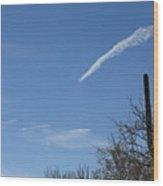 Shooting Cloud Wood Print