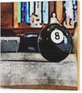 Shooting For The Eight Ball Wood Print