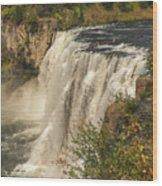 Shooting The Falls Wood Print