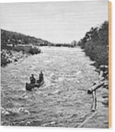 Shooting The Rapids In Maine Wood Print