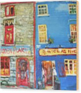 Shopfronts Galway Wood Print