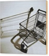 Shopping Cart Reflection Art  Wood Print