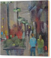 Shopping On The Mag Mile Wood Print