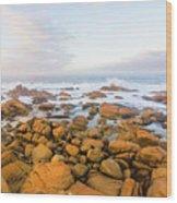 Shore Calm Morning Wood Print
