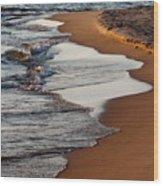 Shore Of Lake Michigan Wood Print