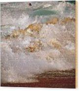 Sunset Beach Splash Wood Print