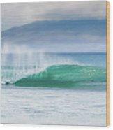 Shorebreak Wood Print