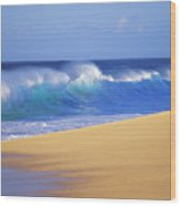 Shorebreak Waves Wood Print by Ali ONeal - Printscapes