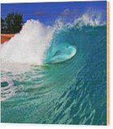 Shorebreaker Wood Print