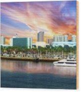 Shoreline Long Beach Ca 09 Wood Print