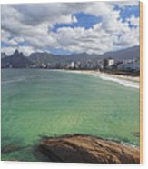 Shoreline Of Ipanema  Wood Print