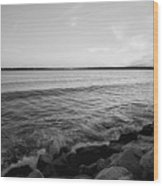 Shoreline Of Jamestown At Dusk Wood Print