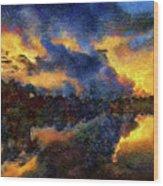 Shoreline Sunrise Wood Print