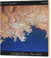 Shores Of Lake Mead Planet Art Wood Print