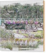 Shorey Park Bridge I Wood Print