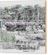 Shorey Park Bridge Wood Print