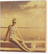 Shorncliffe Pier Pin Up Wood Print