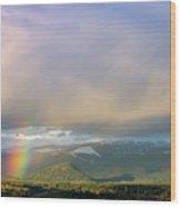 Short Rainbow Wood Print