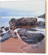 Short Rock Wood Print